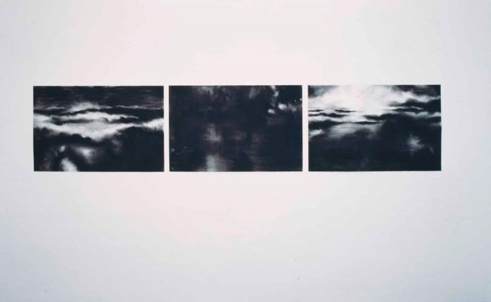 Seestücke Tryptichon, 2002, je 65 x 100 cm